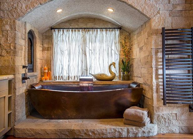 Rustic Bathroom by Diamond Spas