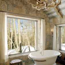 Rustic Bathroom by JLF & Associates, Inc.