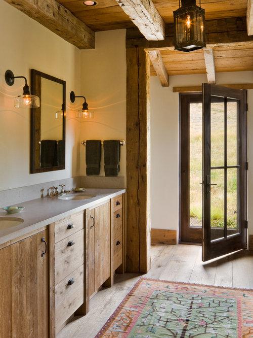 Rustikale Badezimmer Fotos : Rustikale badezimmer design ideen beispiele für die