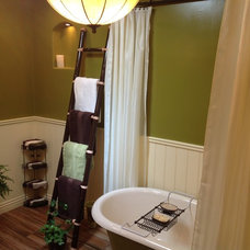 Midcentury Bathroom by Open Hand Remodeling Co.