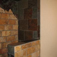 Rustic Bathroom by Stone Creek Installations