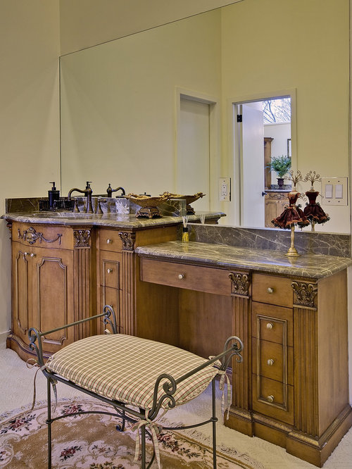 Example Of A Mountain Style Bathroom Design In Other With Furniture Like  Cabinets And Medium