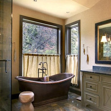 rustic bathroom by Timothy F. White