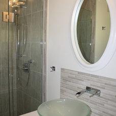 Transitional Bathroom by Atarah Humphreys, Designer at Urbana Kitchens