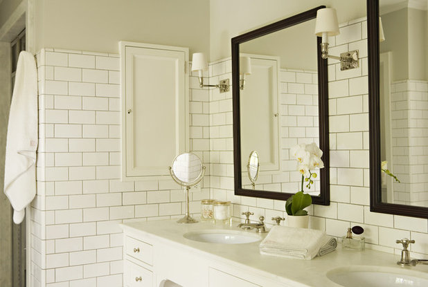 Floor-to-Ceiling Tile Takes Bathrooms Above And Beyond
