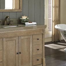 Rustic Bathroom by Studio41 Home Design Showroom | Highland Park