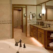 Eclectic Bathroom by nicole helene designs