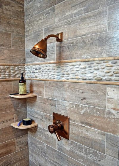 Rustik Badrum by True Form Design and Building Inc.