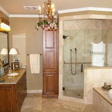 Transitional Bathroom by Highland Design Gallery