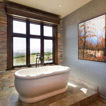 Rustic Elegance in Wolf Creek Ranch, Utah by Cameo Homes Inc.