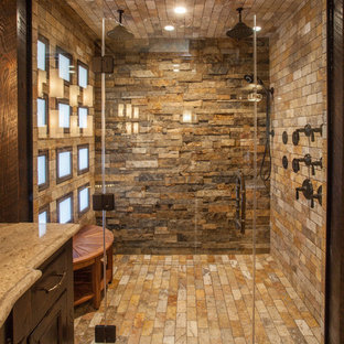 75 Most Popular Rustic Walk In Shower Design Ideas For