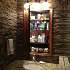 Rustic Bathroom by Callier & Thompson Kitchens, Baths and Appliances