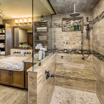 Rustic / elegant master bath