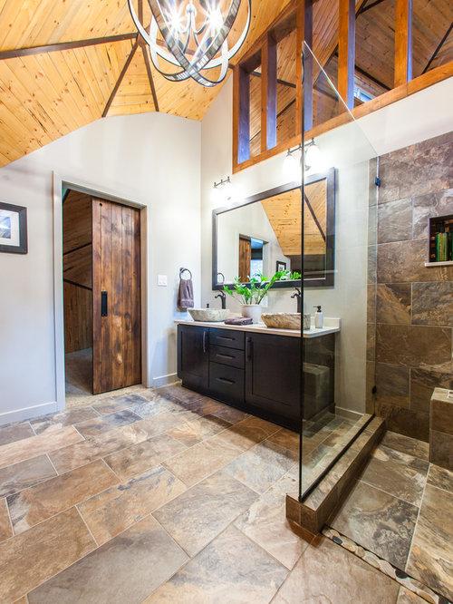 Rustic Bathroom Design Ideas Renovations Photos With Engineered Stone