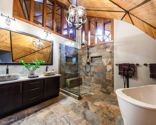 Bathroom Design Kendal rustic american olean kendal slate bathroom design ideas, remodels