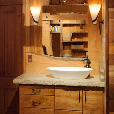 Rustic Bathroom by Morse Remodeling, Inc. and Custom Homes