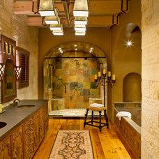 Mediterranean Bathroom by Leedy Interiors