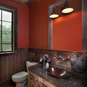 Rustic half bath