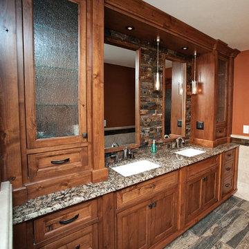 Rustic Industrial Master Bathroom Vanity