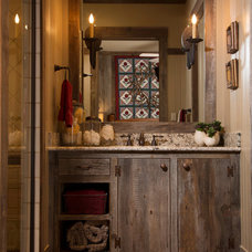 Rustic Bathroom by Collaborative Design Group-Architects & Interiors