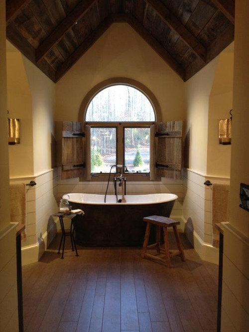Rustic master bath home design ideas pictures remodel for Rustic master bathroom designs