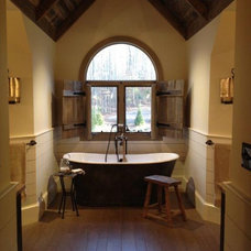 Rustic Bathroom by Daniel DeSantis Interiors