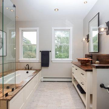 Rustic Master Bathroom Suite Remodel