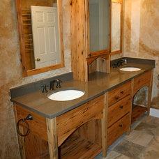 Farmhouse Bathroom by Dufour Design LLC