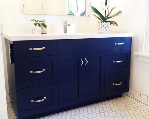 Blue bathroom design ideas renovations photos with a for Bathroom decor and tiles midland