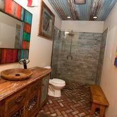 Rustic Bathroom by Wright-Built