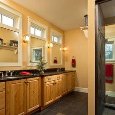 Traditional Bathroom by Teakwood Builders, Inc.