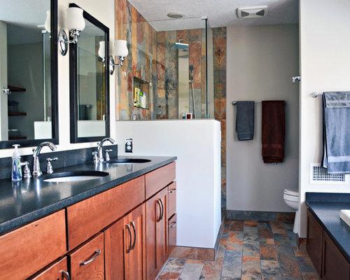 Rustic Modern Master Suite Bath