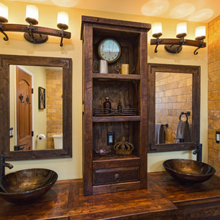 Rustic Spanish design and remodeling of 2 bathrooms in Thousand Oaks