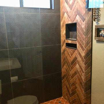 Rustic Spanish-Style Guest Bath