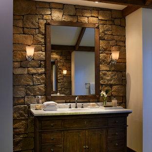 Stone Wall Bathroom Houzz, Bathroom Stone Wall