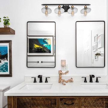 Rustic Tropical Bathroom