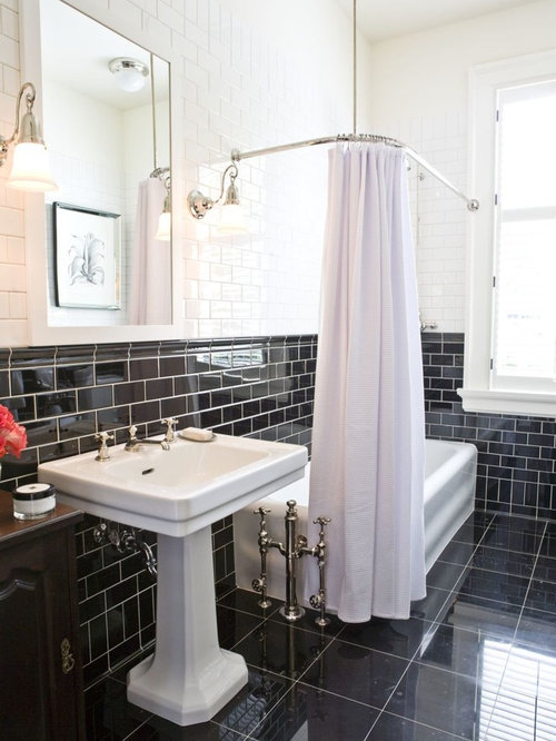 black tile bathroom ideas black tile bathroom houzz 17421