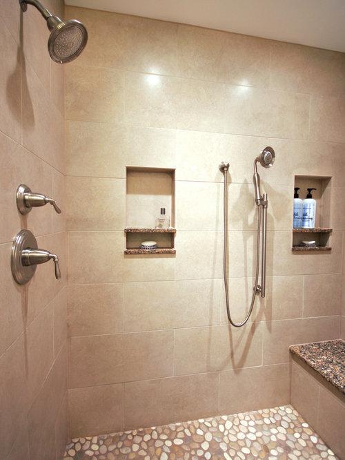 salle de bain avec un sol en galet et un bidet photos et id es d co de salles de bain. Black Bedroom Furniture Sets. Home Design Ideas