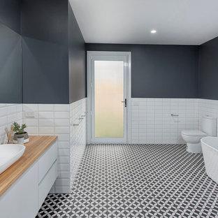 Black And White Kids Bathroom | Credainatcon.com on