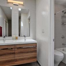 Modern Bathroom by Via Builders Inc