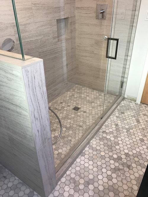 Sacramento Traditional Grey Bathroom Remodel