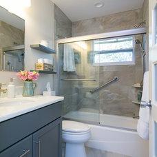 Transitional Bathroom by MJ Designs