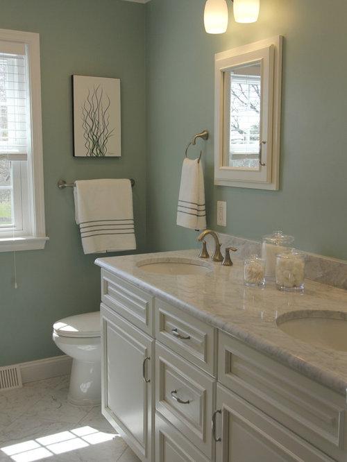 Sage Green Bathroom: Sage Green Carrera Marble Bathroom