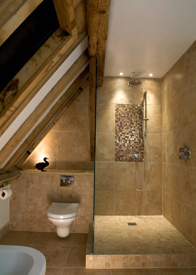 How to light up wooden beams and barn style ceilings - Barn style lighting for bathroom ...