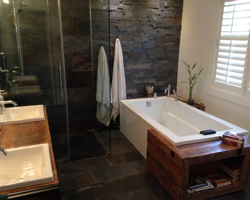 Rustic montreal bathroom and cloakroom design ideas for Bathroom design montreal