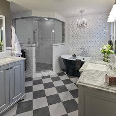 Transitional Bathroom by Solstice Design