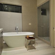 Modern Bathroom by CD Construction, Inc.