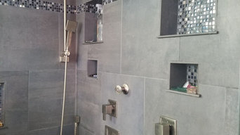 Salt Lake Utah home master whirlpool tub and shower tile & plumbing install