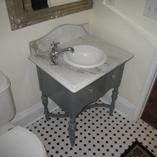 Traditional Bathroom by swanky couch