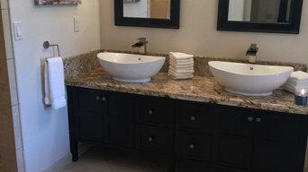 same corner-complete with double sink vanity